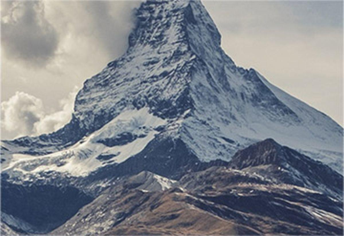 Mountain image, second part of three, used in t3kit as example content